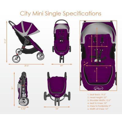 Kočárek BABY JOGGER City Mini 2018 + ZDARMA pláštěnka na kočárek - 4