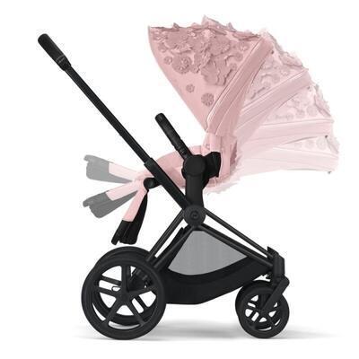 Kočárek CYBEX Set Priam Lux Seat FashionSimply Flowers Collection 2021 včetně autosedačky, light pink/podvozek priam chrome brown - 4