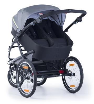 Kočárek TFK Joggster Velo 2020 včetně korby a Joggster Velo Stroller hinge bicykle clutch - 4