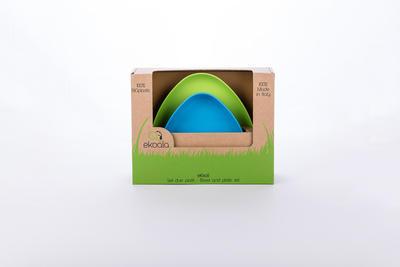 Set 2x talířek EKOALA eKkoli BIO plast 2019, modrá/zelená - 4