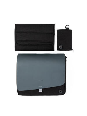 Přebalovací taška MOON 2021, black/black - 4