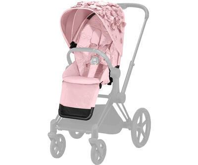 Kočárek CYBEX Set Priam Lux Seat FashionSimply Flowers Collection 2021 včetně autosedačky, light pink/podvozek priam chrome brown - 5