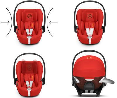 Kočárek CYBEX Set Priam Lux Seat Ferrari Fashion 2021 včetně Cloud Z i-Size Ferrari Fashion - 5