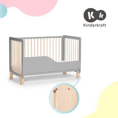 Postýlka dřevěná se zábranou KINDERKRAFT Lunky 2021, grey - 5