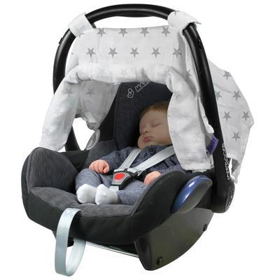 Clona DOOKY Car Seat Canopy 2017, silver stars - 5