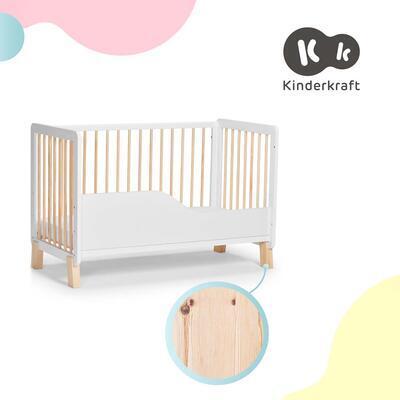 Postýlka dřevěná se zábranou KINDERKRAFT Lunky 2021, white - 5