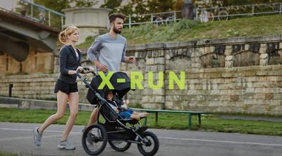 Kočárek X-LANDER X-Run 2017, Berry red - 5