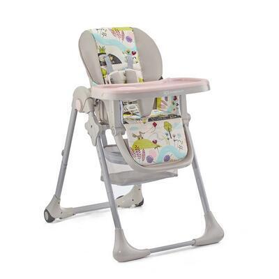 Jídelní židlička KINDERKRAFT Tastee 2021, pink leaf - 5