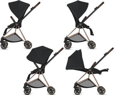 Kočárek CYBEX Mios Matt Black Seat Pack 2021 včetně korby, khaki green - 5