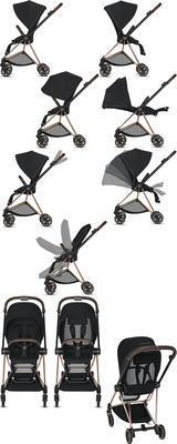 Kočárek CYBEX Mios Chrome Brown Seat Pack 2021 včetně korby, deep black - 5