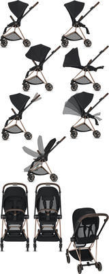 Kočárek CYBEX Mios Chrome Brown Seat Pack 2021 včetně korby, soho grey - 5