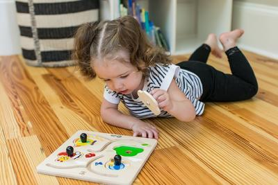 Dřevěná hračka BABY EINSTEIN Puzzle Paths to Adventure HAPE 12m+ 2020 - 5