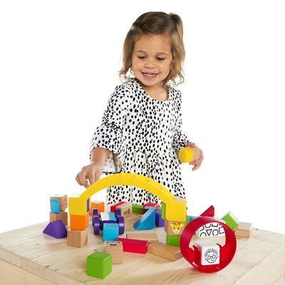 Dřevěná hračka BABY EINATEIN Stavebnice Curious Creations Kit HAPE 12m+ 2020 - 5