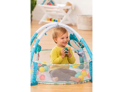 Hrací deka s hrazdou a ohrádkou INFANTINO 3v1 Jumbo 2020 - 5