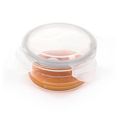 Skleněné misky s víčky BO JUNGLE B-Glass Bowls 280ml 2021, white/grey/pink - 5