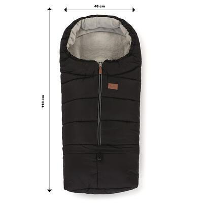 PETITE&MARS Zimní set fusak Jibot 3v1 + rukavice na kočárek Jasie 2021, black - 5