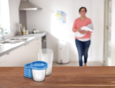 VIA pohárky AVENT s víčkem (180ml) 2020 - 5