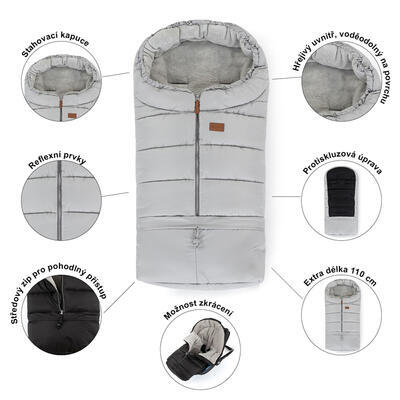 PETITE&MARS Zimní set fusak Jibot 3v1 + rukavice na kočárek Jasie 2021 - 5