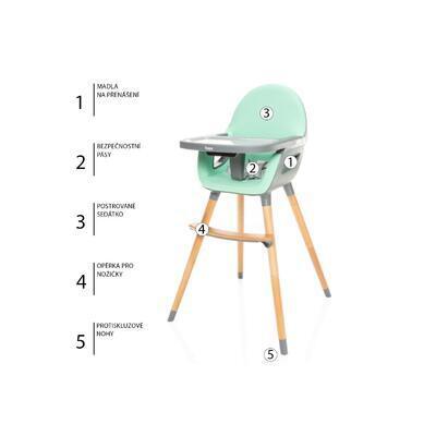 Jídelní židlička ZOPA Dolce 2 2021 - 5