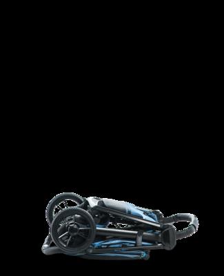 Kočárek MOON Jet-R 2019, blue nylon - 5
