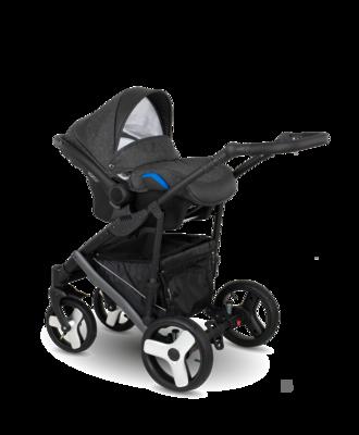 Kočárek CAMARELO Baleo 2020 včetně autosedačky, 11 tmavě šedo-stříbrná - 5