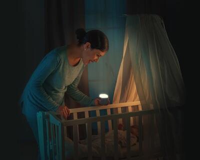 Noční světlo REER SleepLight 2v1 2021, šedé - 6