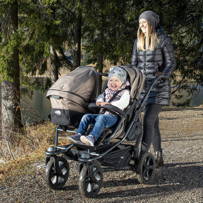 Kočárek TFK Duo Stroller Air Chamber Wheel Premium 2021 včetně Duo Combi Premium 1x - 6