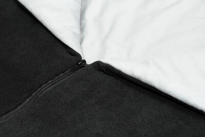 Fusak EMITEX Fanda 2v1 fleece s bavlnou 2020, tmavě šedá + světle šedá - stříbrné kytky - 6