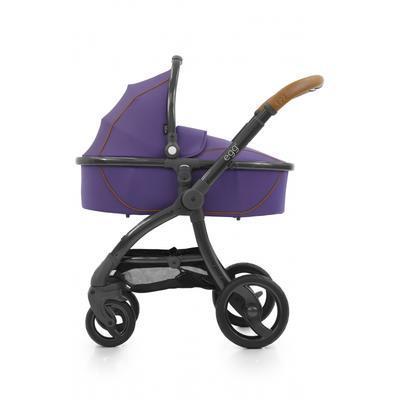 Kočárek BABYSTYLE Egg® včetně korby a tašky 2017 + DÁRKY, gothic purple/gun metal rám - 6