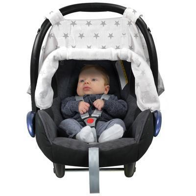 Clona DOOKY Car Seat Canopy 2017, silver stars - 6