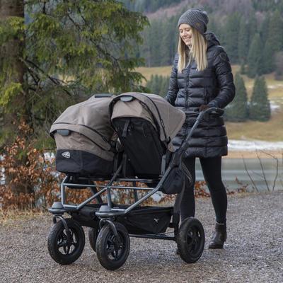 Kočárek TFK Duo Stroller Air Wheel Premium 2021 včetně Duo Combi Premium a 2 autosedaček - 6