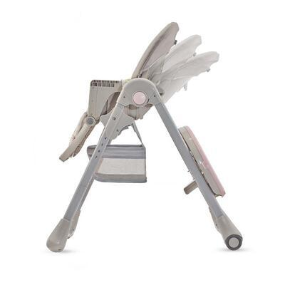 Jídelní židlička KINDERKRAFT Tastee 2021, pink leaf - 6