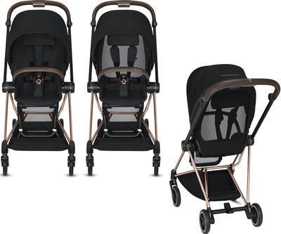 Kočárek CYBEX Mios Matt Black Seat Pack 2021 včetně korby, khaki green - 6