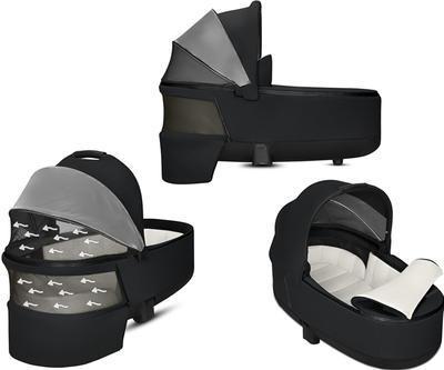 Kočárek CYBEX Set Priam Matt Black Seat Pack 2019 včetně Cloud Z i-Size, manhattan grey - 6