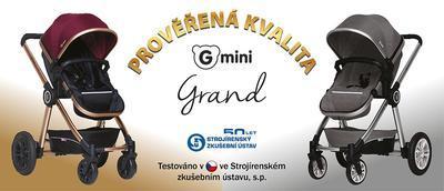 Kočárek GMINI Grand 2v1 2019, fuchsia/zlatá - 6