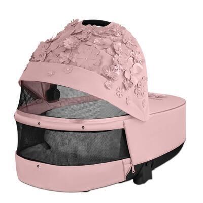 Kočárek CYBEX Set Priam Lux Seat FashionSimply Flowers Collection 2021 včetně autosedačky, light pink/podvozek priam rosegold - 6