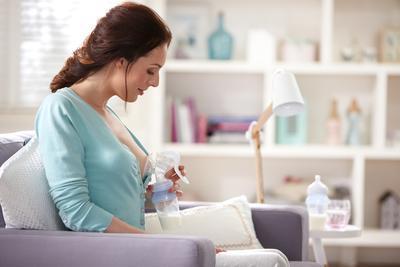 Odsávačka mateřského mléka AVENT  Natural s VIA pohárky 2020 - 6