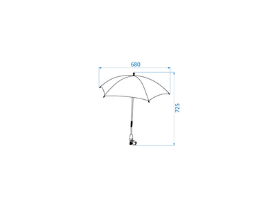 Slunečník na kočárek MAXI-COSI 2021, essential black - 6
