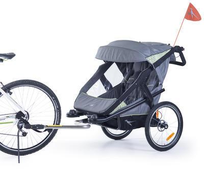 Kočárek TFK Joggster Velo 2020 včetně korby a Joggster Velo Stroller hinge bicykle clutch - 6