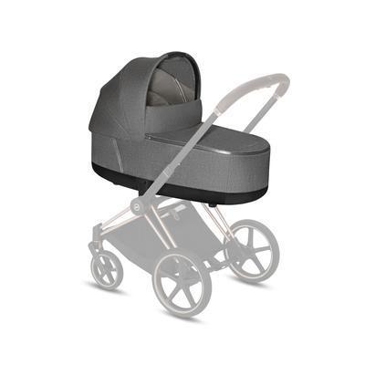 Kočárek CYBEX Set Priam Chrome Brown Seat Pack 2021 včetně Aton 5 a báze, soho grey - 6