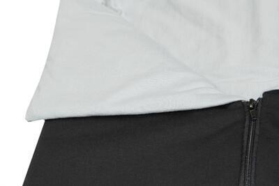 Fusak EMITEX Bary 2v1 bavlna 2021, světle šedá - stříbrná potisk kytky - 6