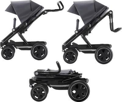 Kočárek BRITAX GO Big2 Premium Line 2019 včetně hluboké korby + autosedačka Baby-Safe i-Size ZDARMA, graphite melange/black - 7