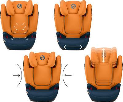 Autosedačka CYBEX Solution S-FixGold Line 2019, indigo blue - 7