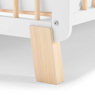 Postýlka dřevěná se zábranou KINDERKRAFT Lunky 2021, white - 7