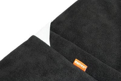 Fusak EMITEX Fanda 2v1 fleece s bavlnou 2020, tmavě šedá + světle šedá - stříbrné kytky - 7