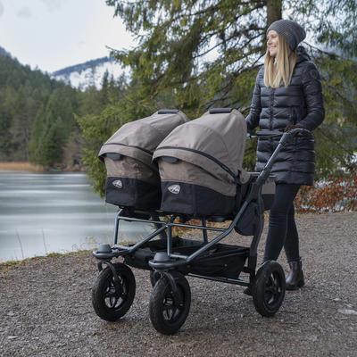Kočárek TFK Duo Stroller Air Wheel Premium 2021 včetně Duo Combi Premium a 2 autosedaček - 7