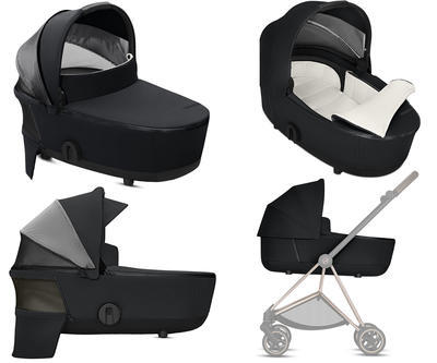 Kočárek CYBEX Mios Chrome Brown Seat Pack 2021 včetně korby, soho grey - 7
