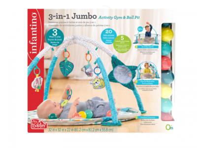 Hrací deka s hrazdou a ohrádkou INFANTINO 3v1 Jumbo 2020 - 7
