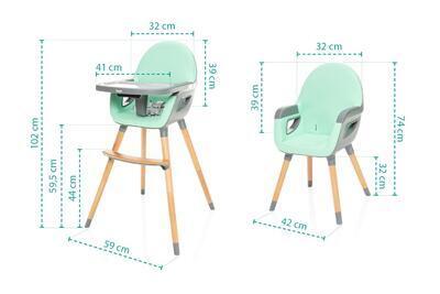Jídelní židlička ZOPA Dolce 2 2021 - 7