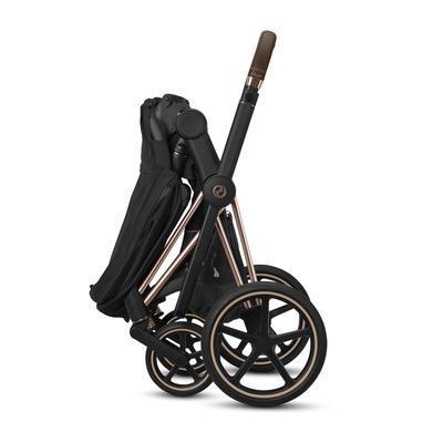 Kočárek CYBEX Set Priam Chrome Brown Seat Pack 2021 včetně Aton 5 a báze, soho grey - 7